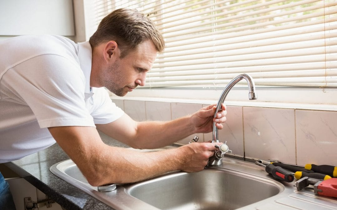 home maintenance tasks include repairing leaking faucets